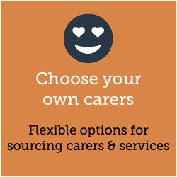 Choose your own carers. DYI management of carers & services